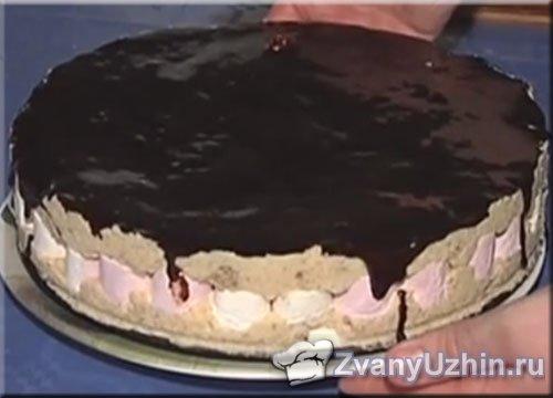 """Торт """"Субботин"""" из суфле и зефира с ореховым кремом"""